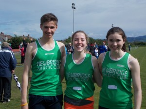 The golden Eagles Mark 800m +1500m Champion Ellie 200m Champion + Amiee 800m + 1500m Champion
